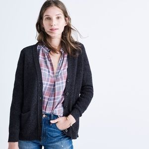 Madewell Dark Grey Seedstitch Button Down Cardigan